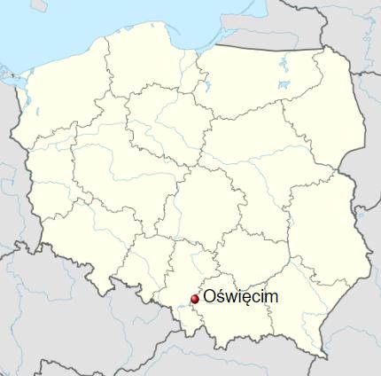 Oświęcim - Map